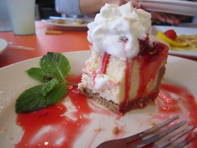 Cheesecake da Big Daddy's – o pedaço custa 8 dólares
